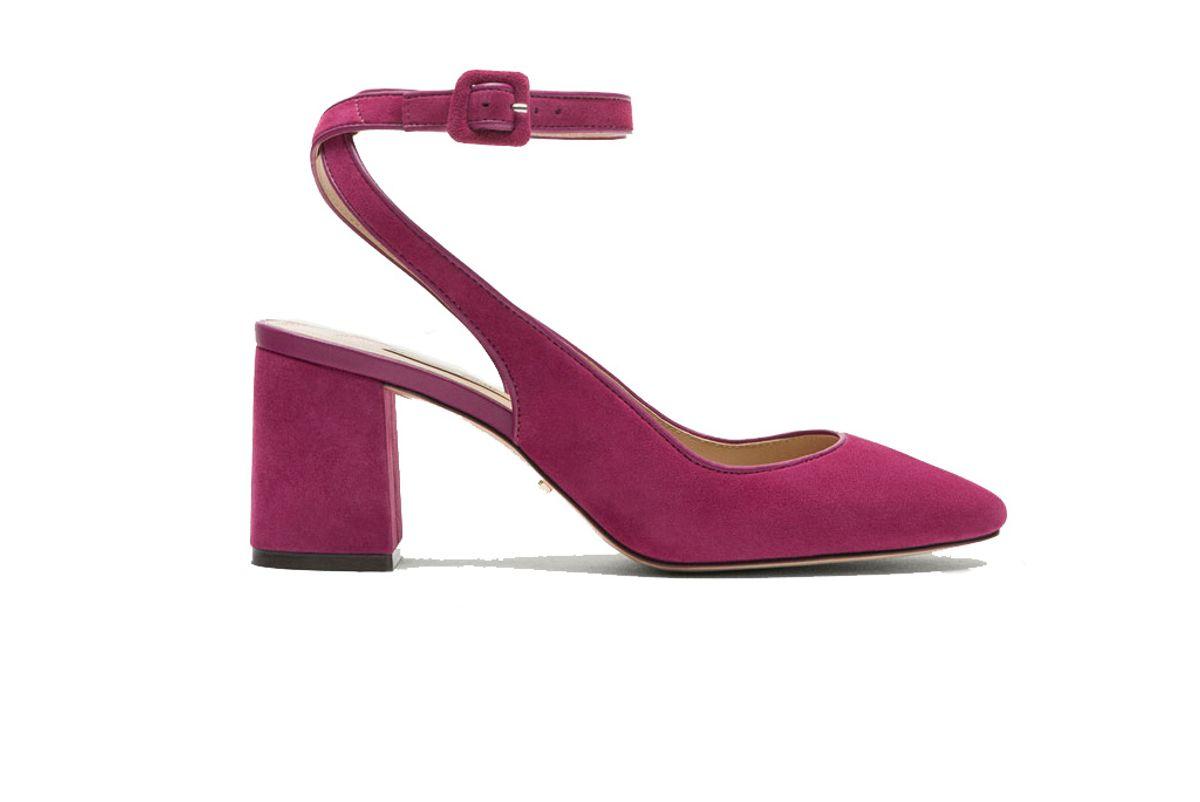 Suede Slingback High Heel Shoes