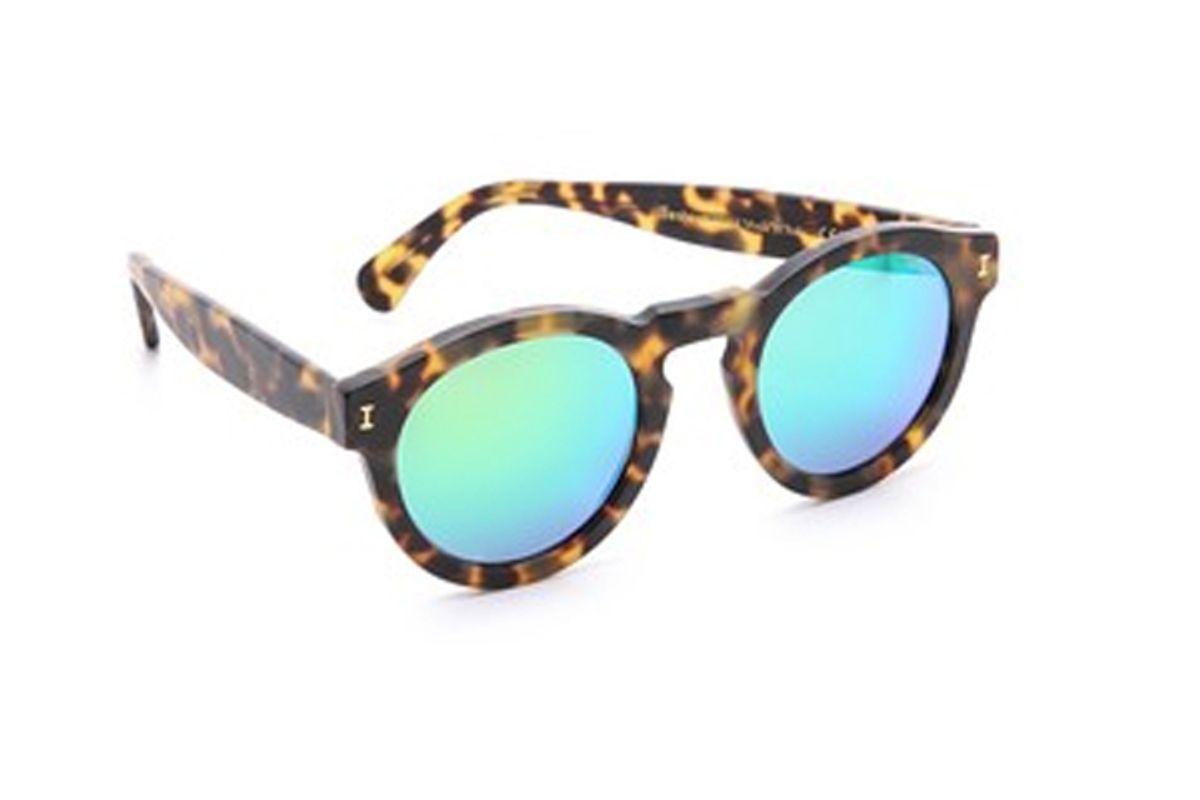 Leonard Matte Mirrored Sunglasses