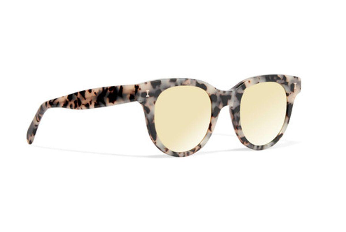Sicilia Cat-eye Acetate Mirrored Sunglasses