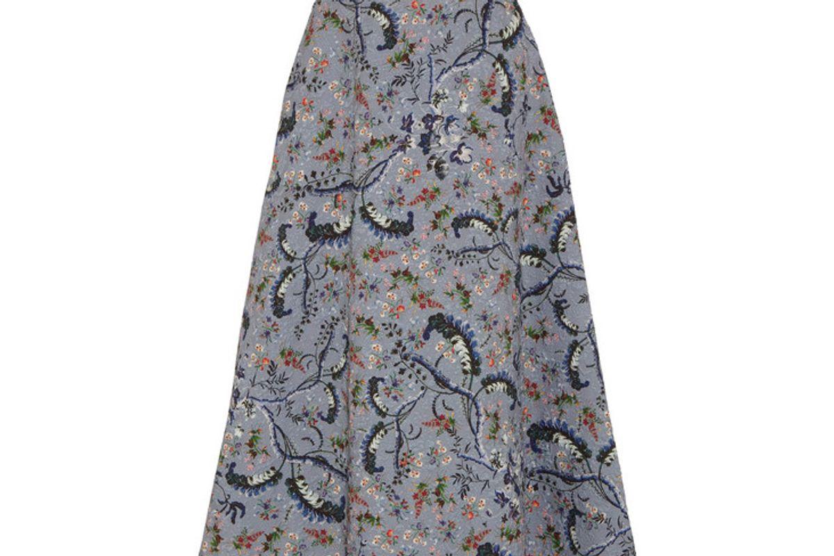 Tiana Printed Jacquard Midi Skirt