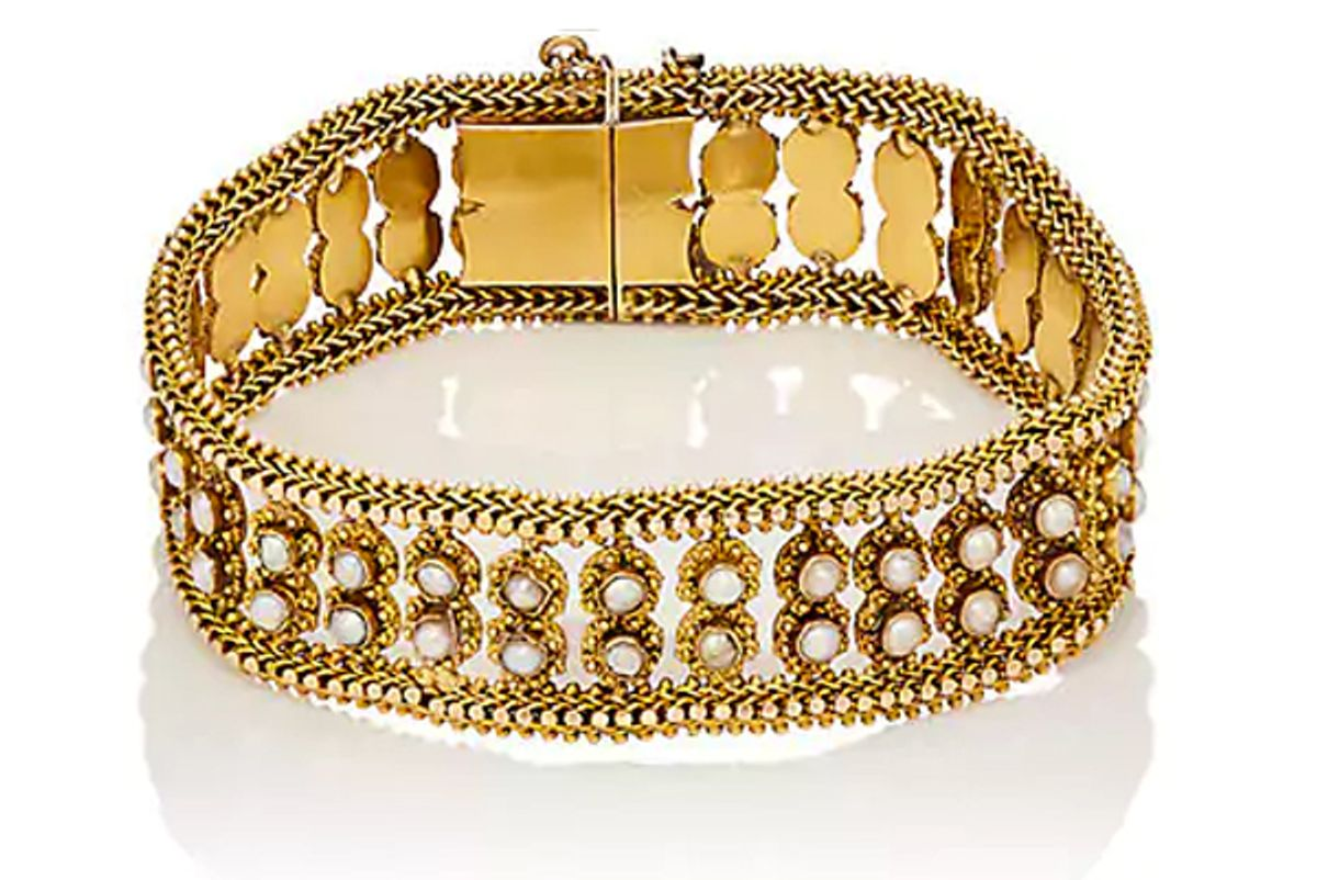 Seed Pearl & Gold Bracelet