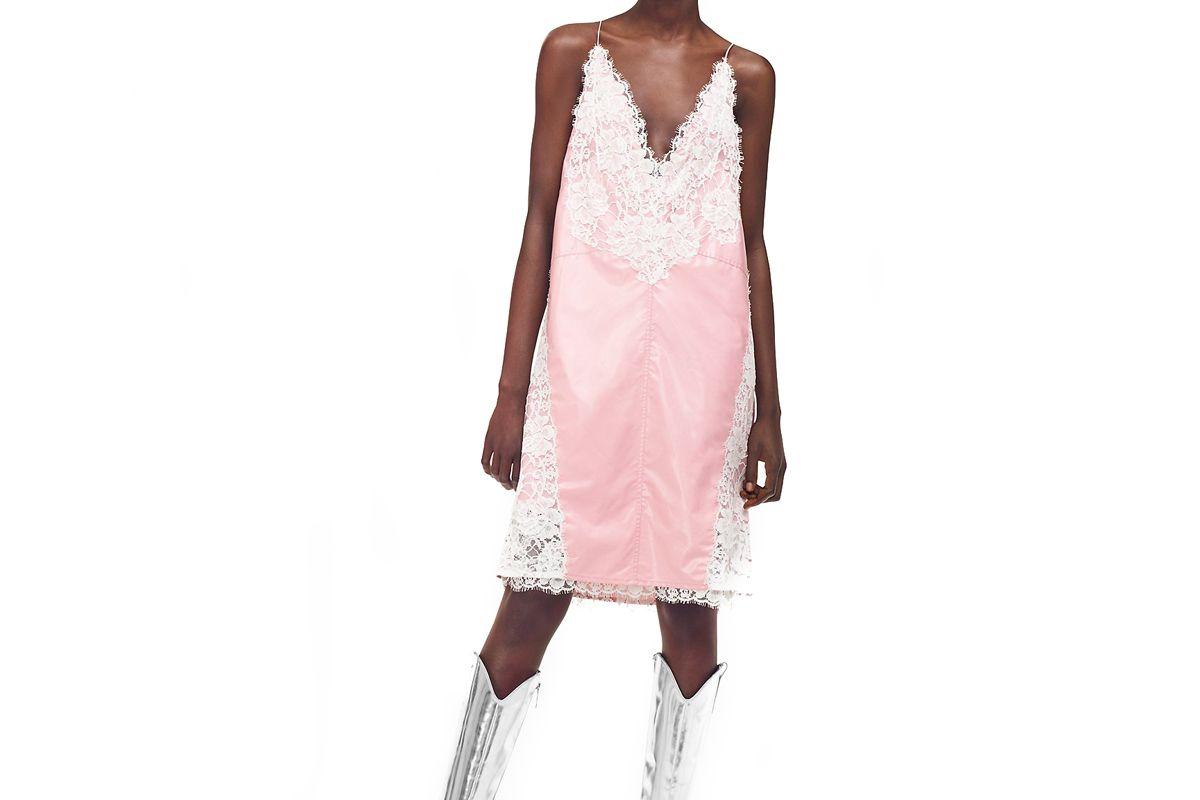 calvin klein 205w39nyc lingerie dress in wool chintz