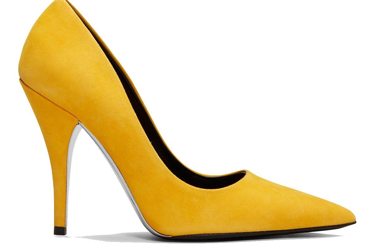 calvin klein 205w39nyc high heeled pump in suede
