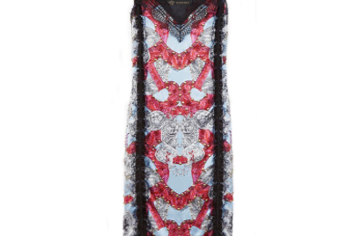 versace barocco instante silk dress