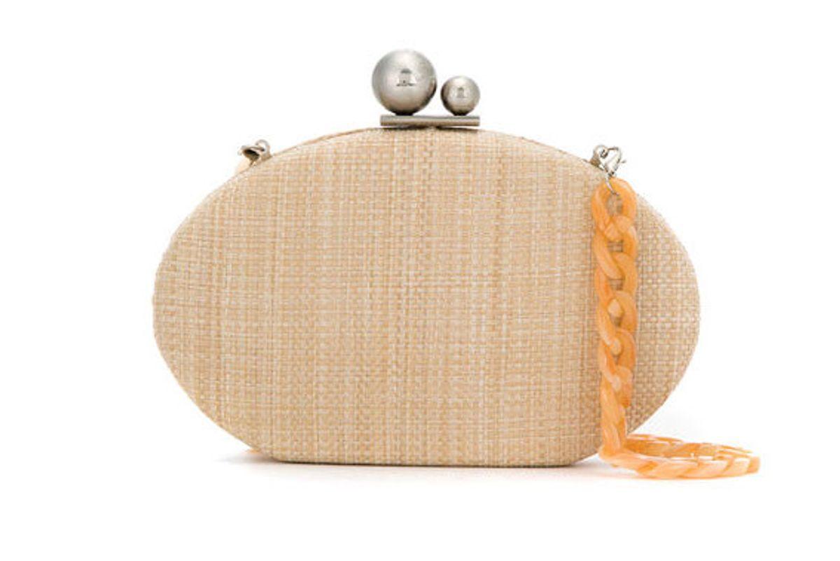 isla straw clutch bag