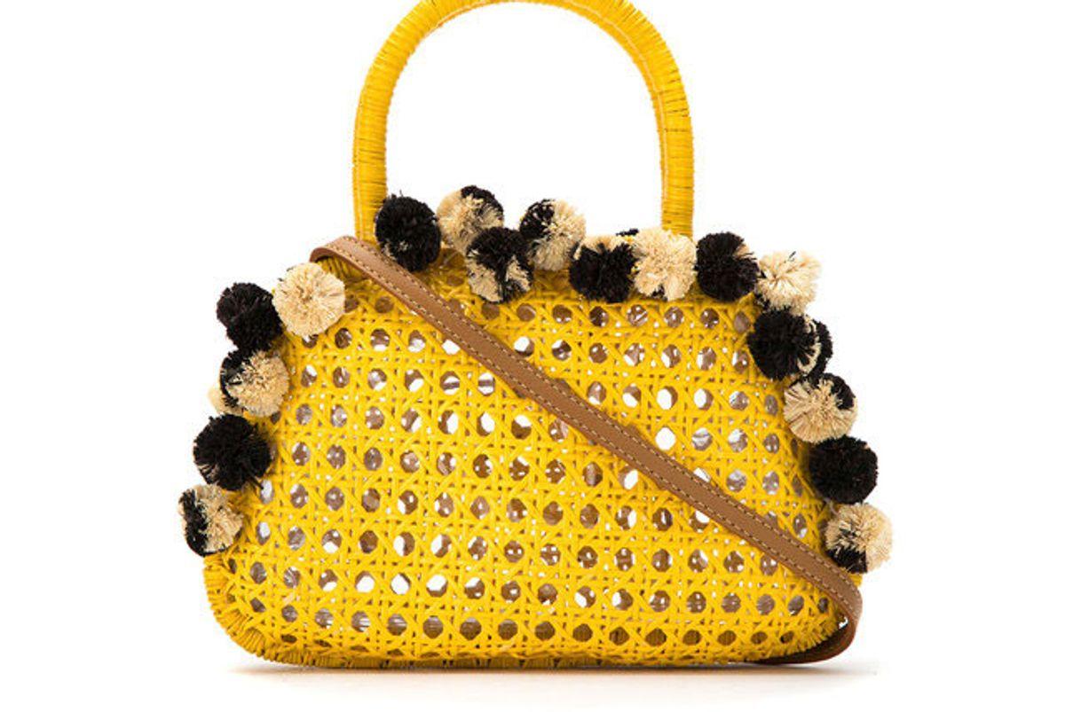 serpui embellished straw bag