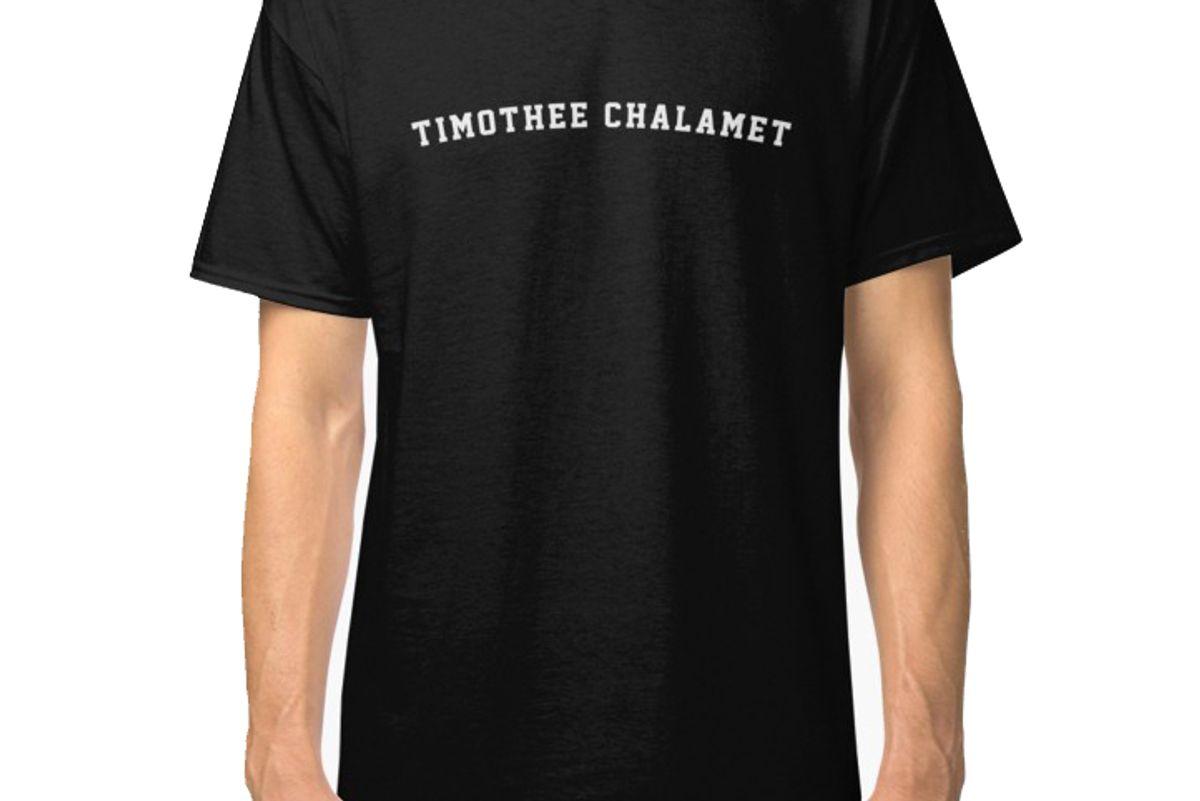 timothee chalamet classic black t-shirt