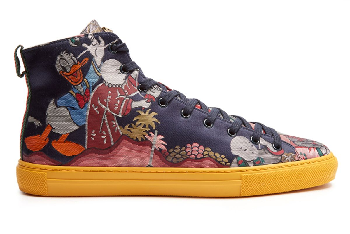 Donald Duck Jacquard High-Top Trainers
