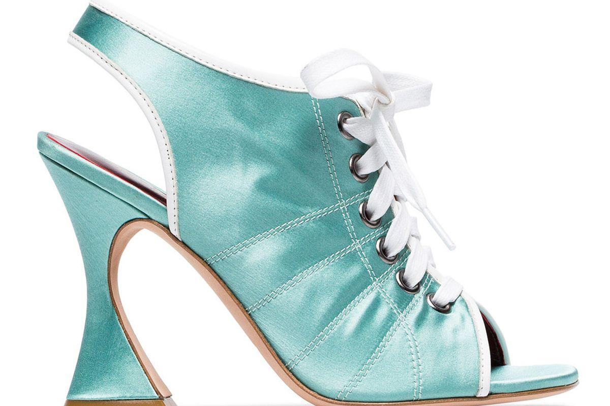 sies marjan green mia 100 satin slingback sneaker sandals