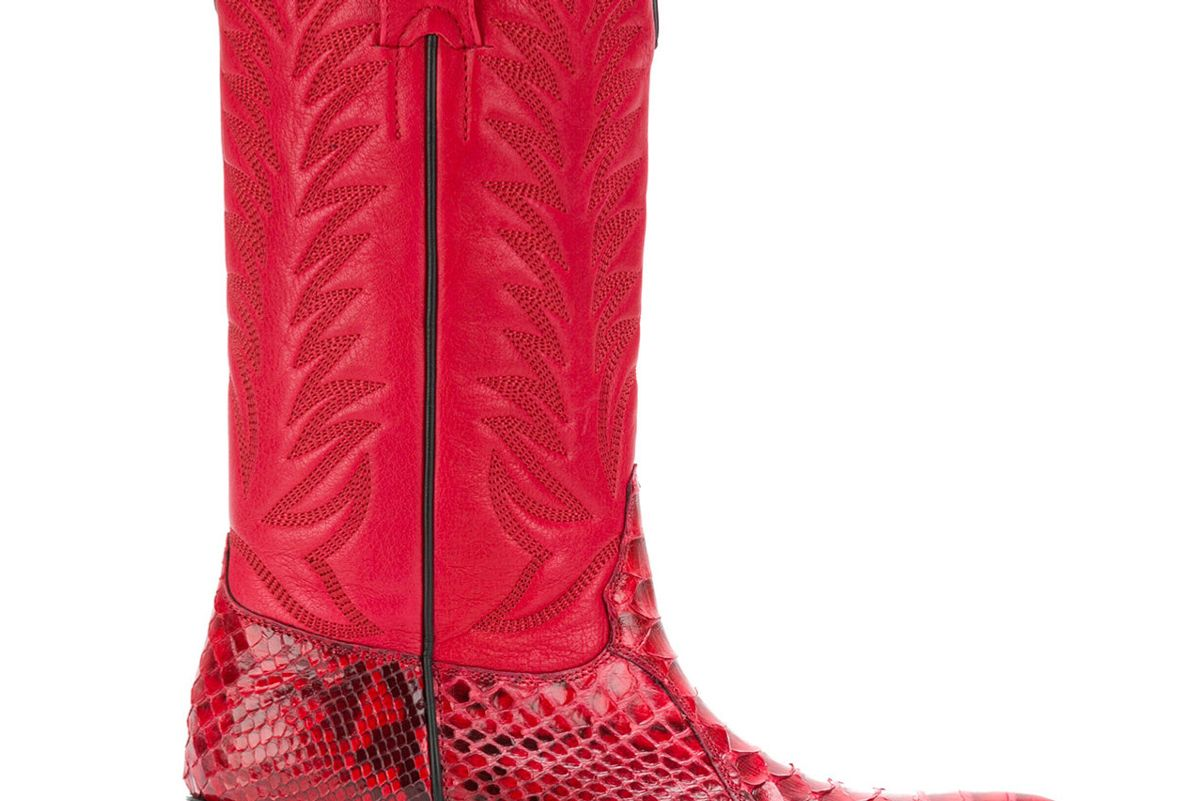 sonora snakeskin effect cowboy boots