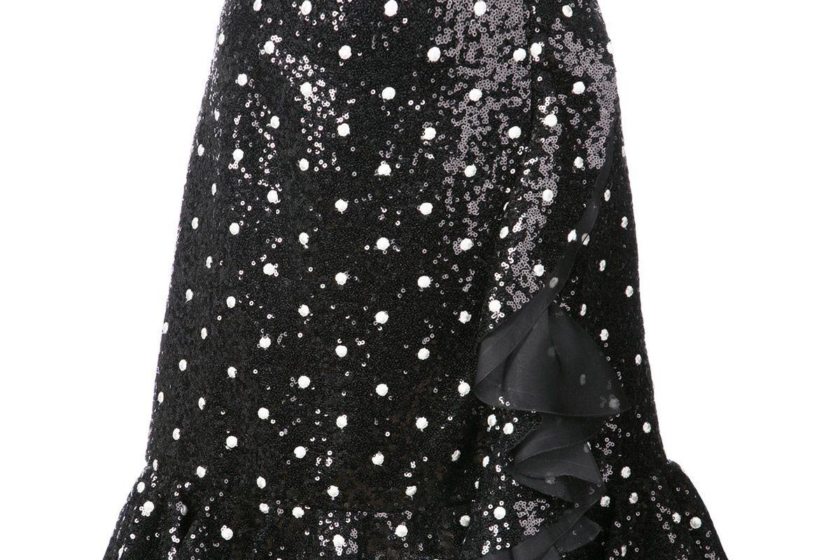giambattista valli polka dot sequined skirt