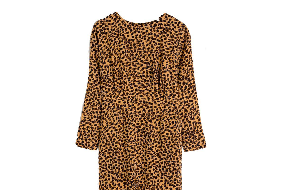 other stories leopard print dress