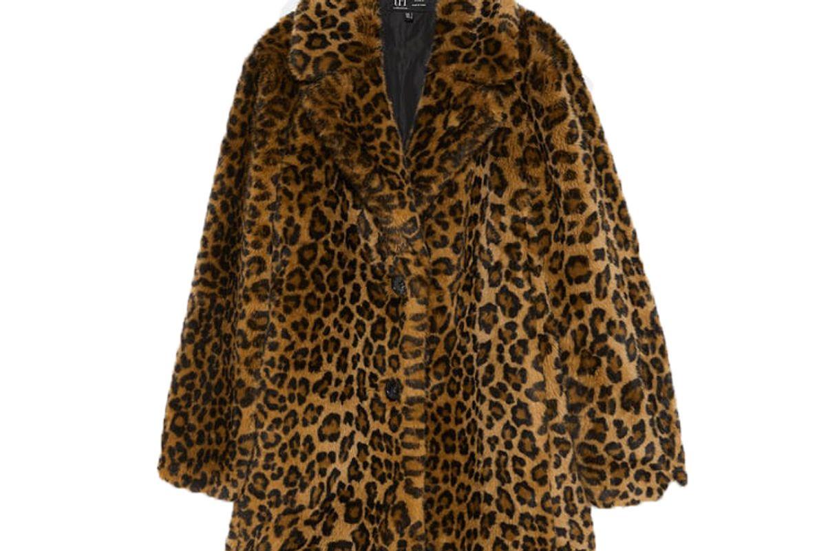 zara leopard print coat