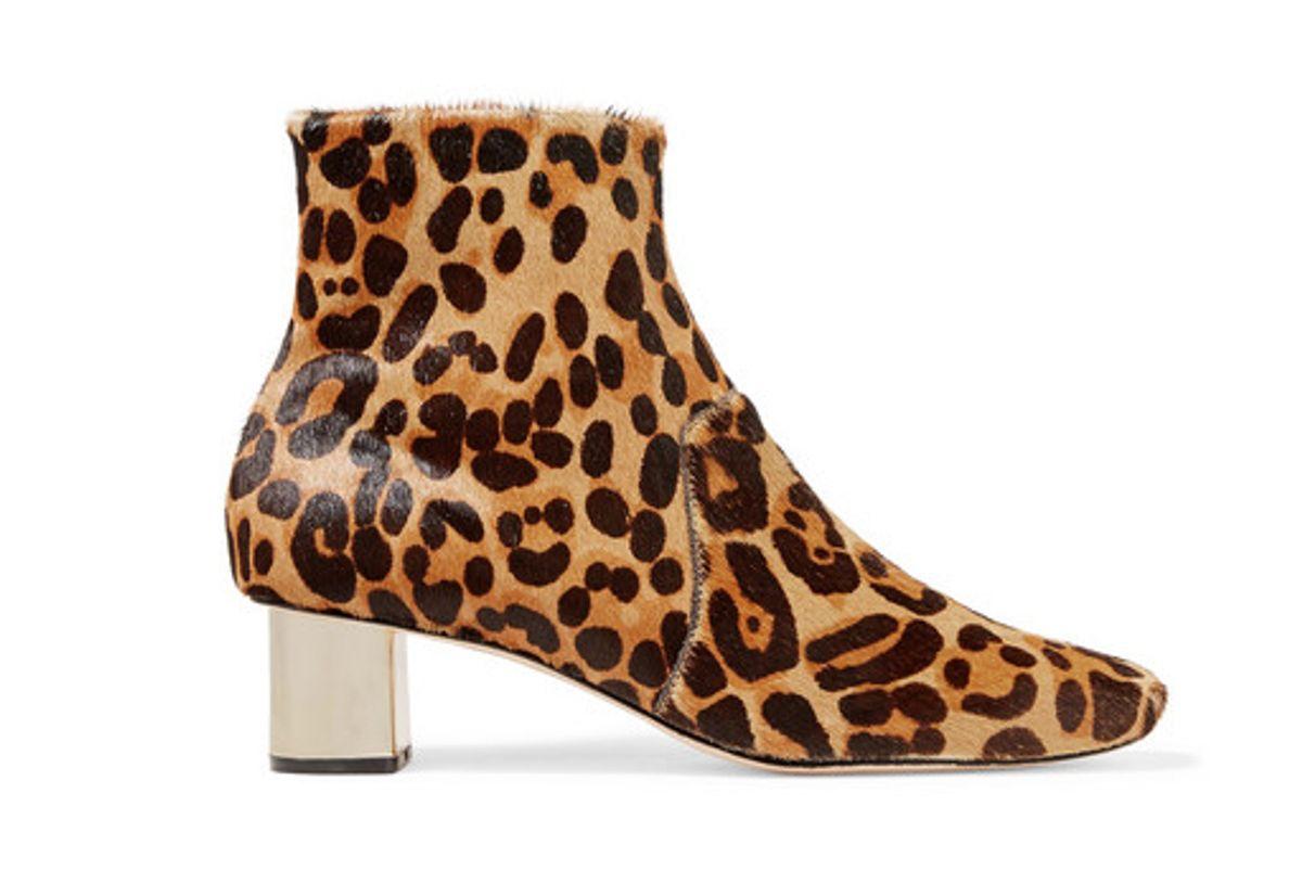 nanushka clarence leopard print calf hair ankle boots
