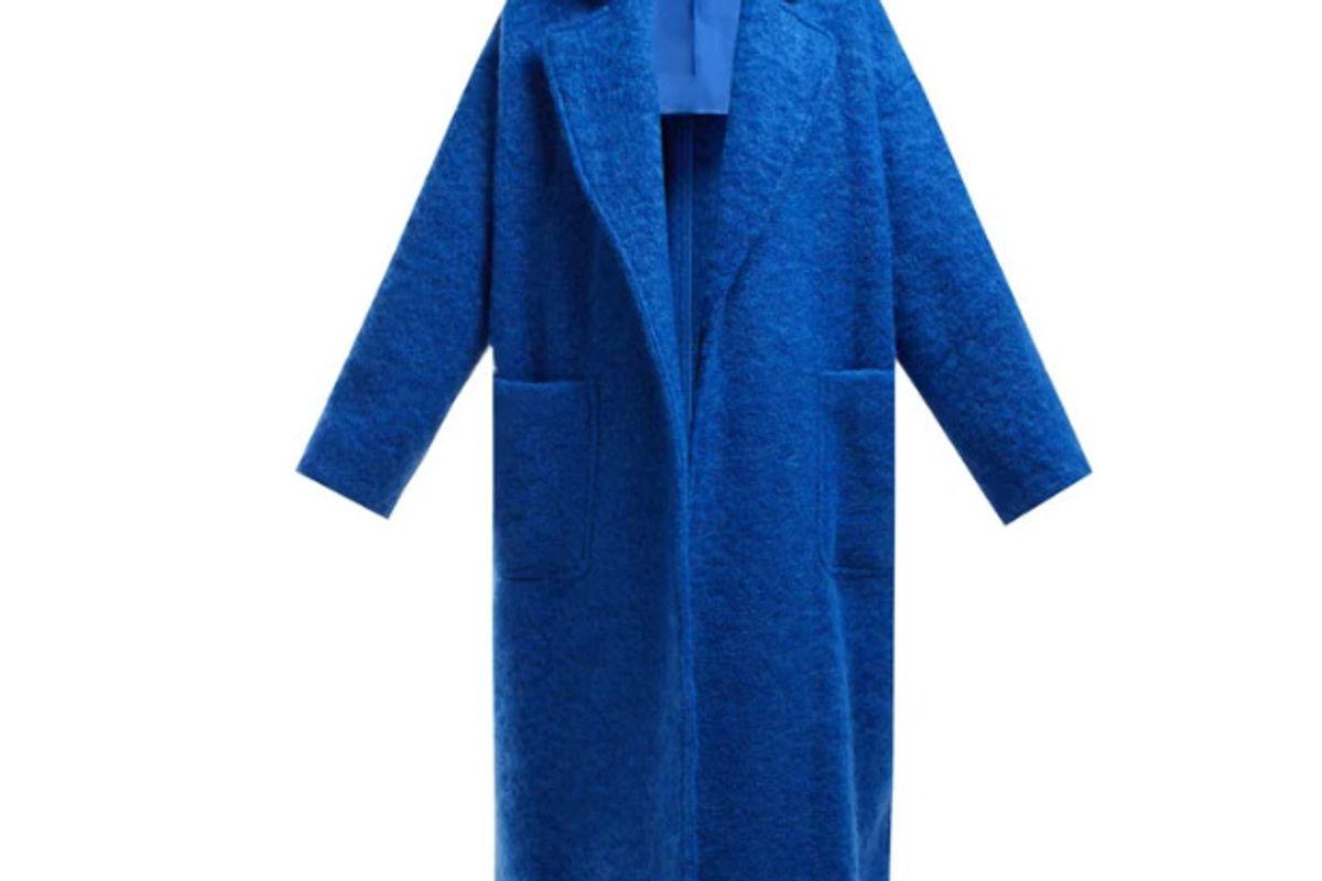 raey dropped shoulder wool blend blanket