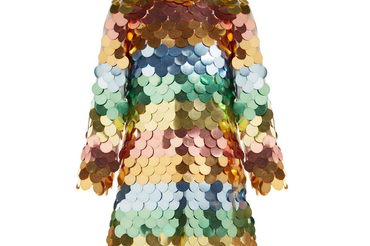 sara battaglia sequinned mini dress
