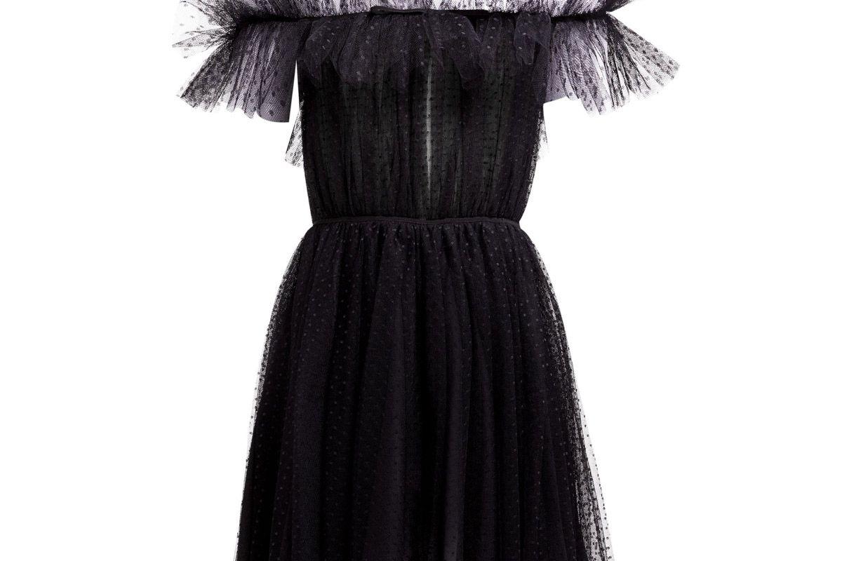 giambattista valli ruffle polka dot tulle dress