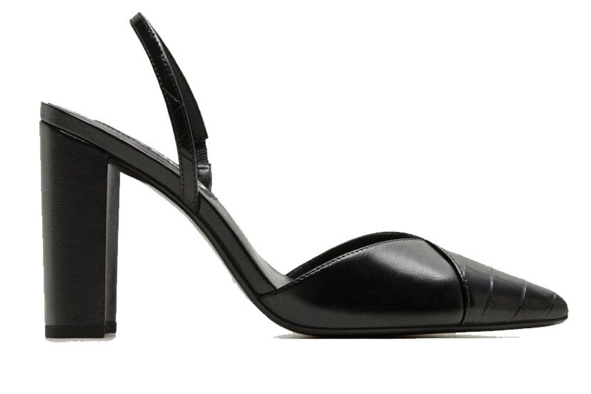 mango shoe tip croc effect