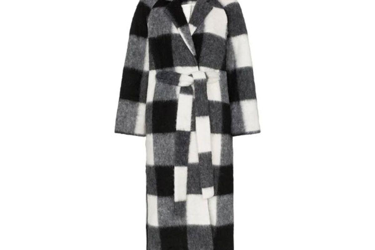 ganni mckenney checked coat