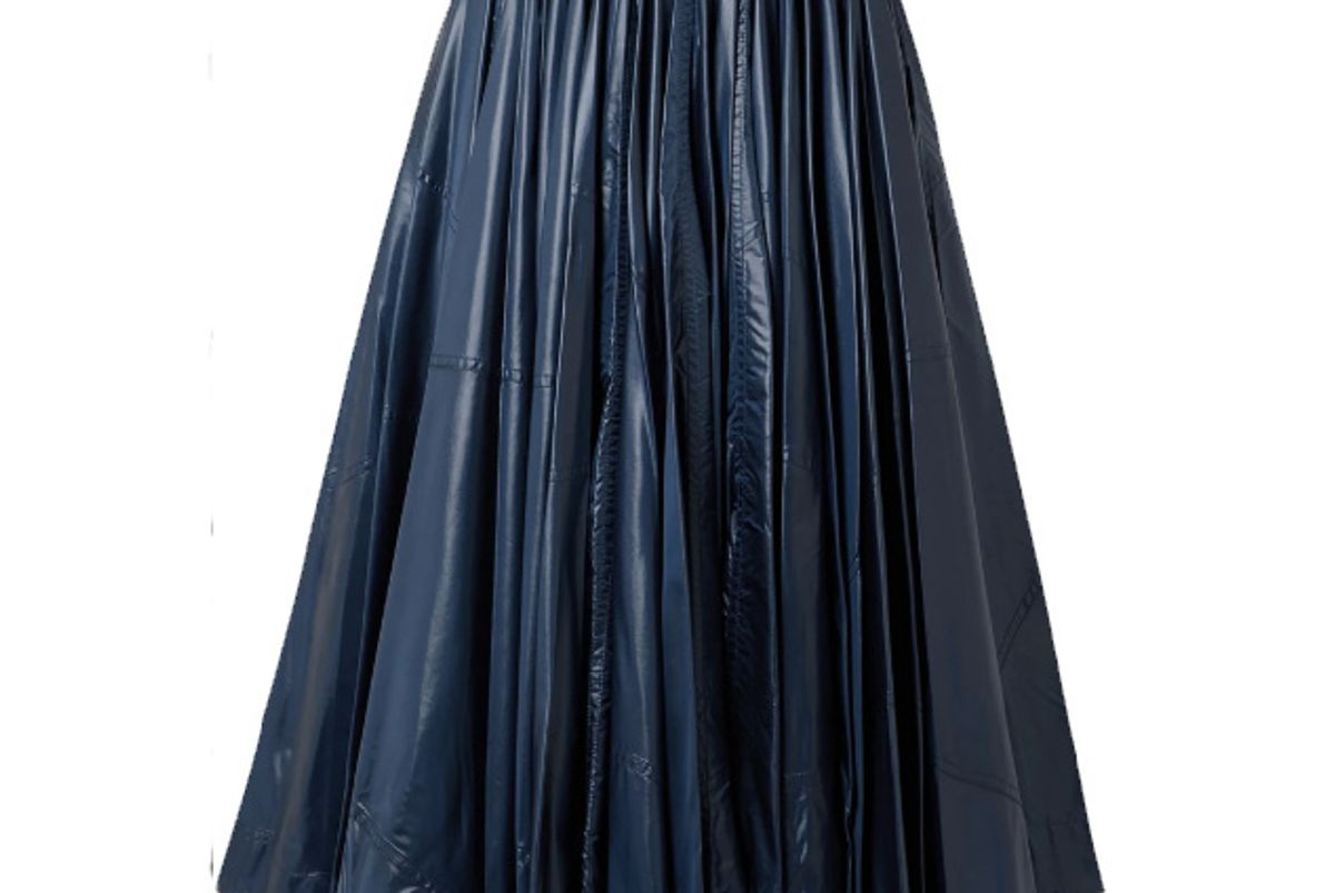 calvin klein 205w39nyc pleated coated shell midi skirt