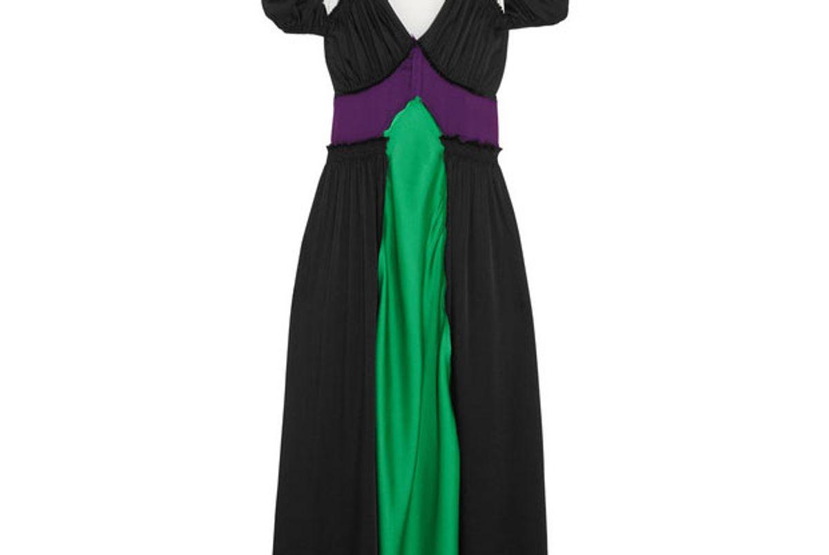 Carlotta color-block satin maxi dress