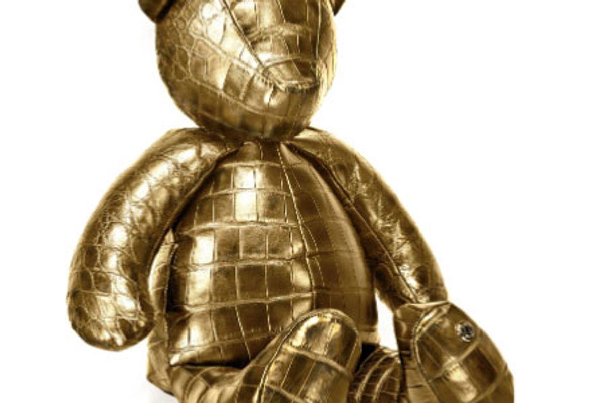 stavley 24k gold crocodile teddy bear