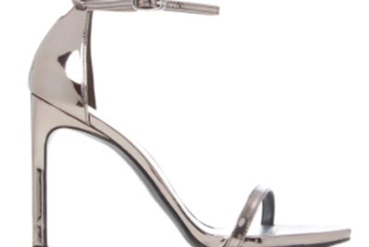 Nudist Metallic Leather Sandals