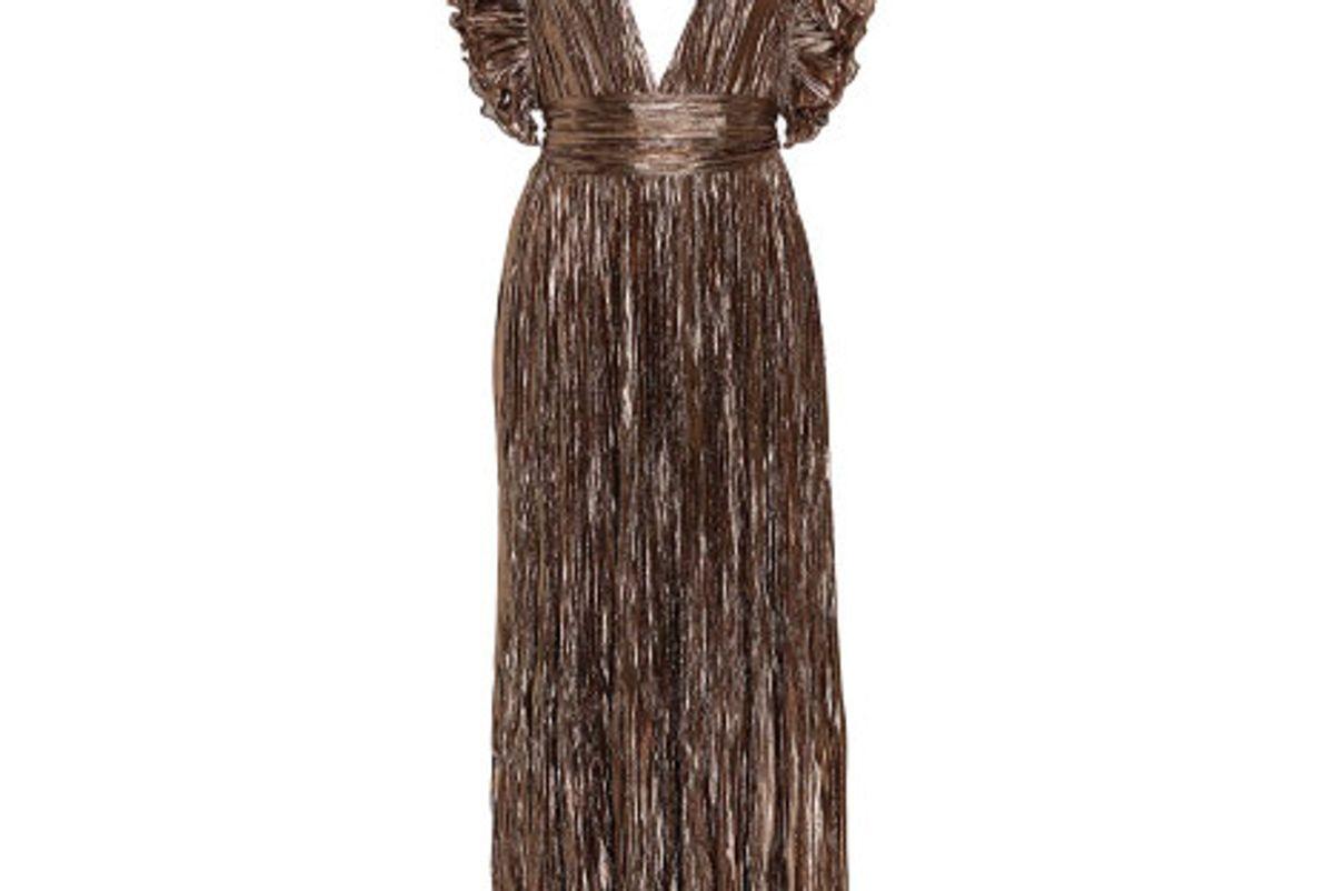 Donna French Silk-Lamé Dress