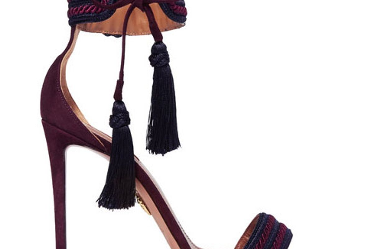 Shanty tasseled suede sandals