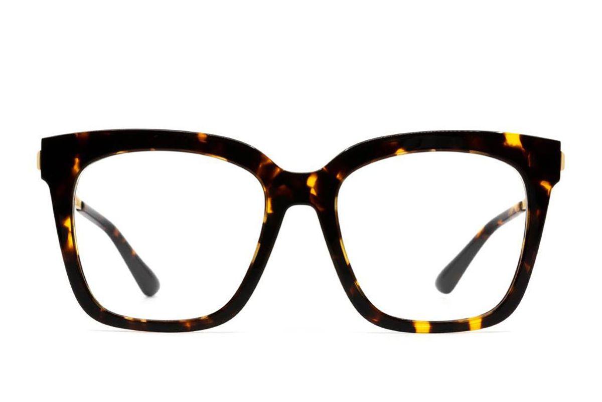 diff eyewear bella xs amber tortoise blue light technology