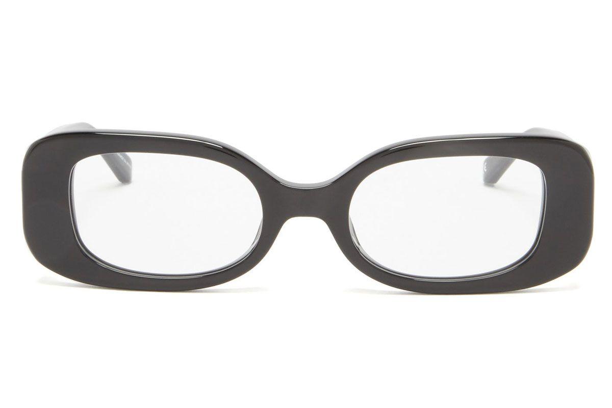 linda farrow lola rectangular acetate glasses