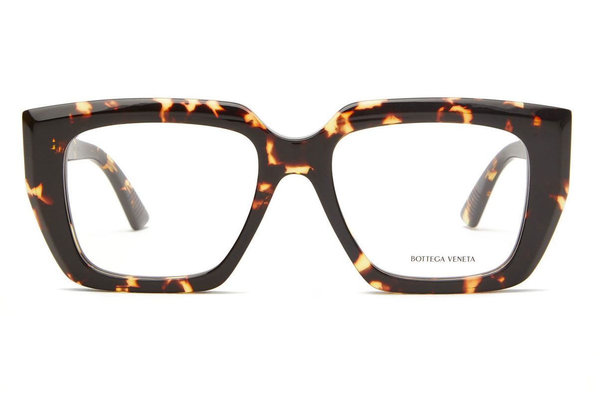 bottega veneta square tortoiseshell acetate glasses