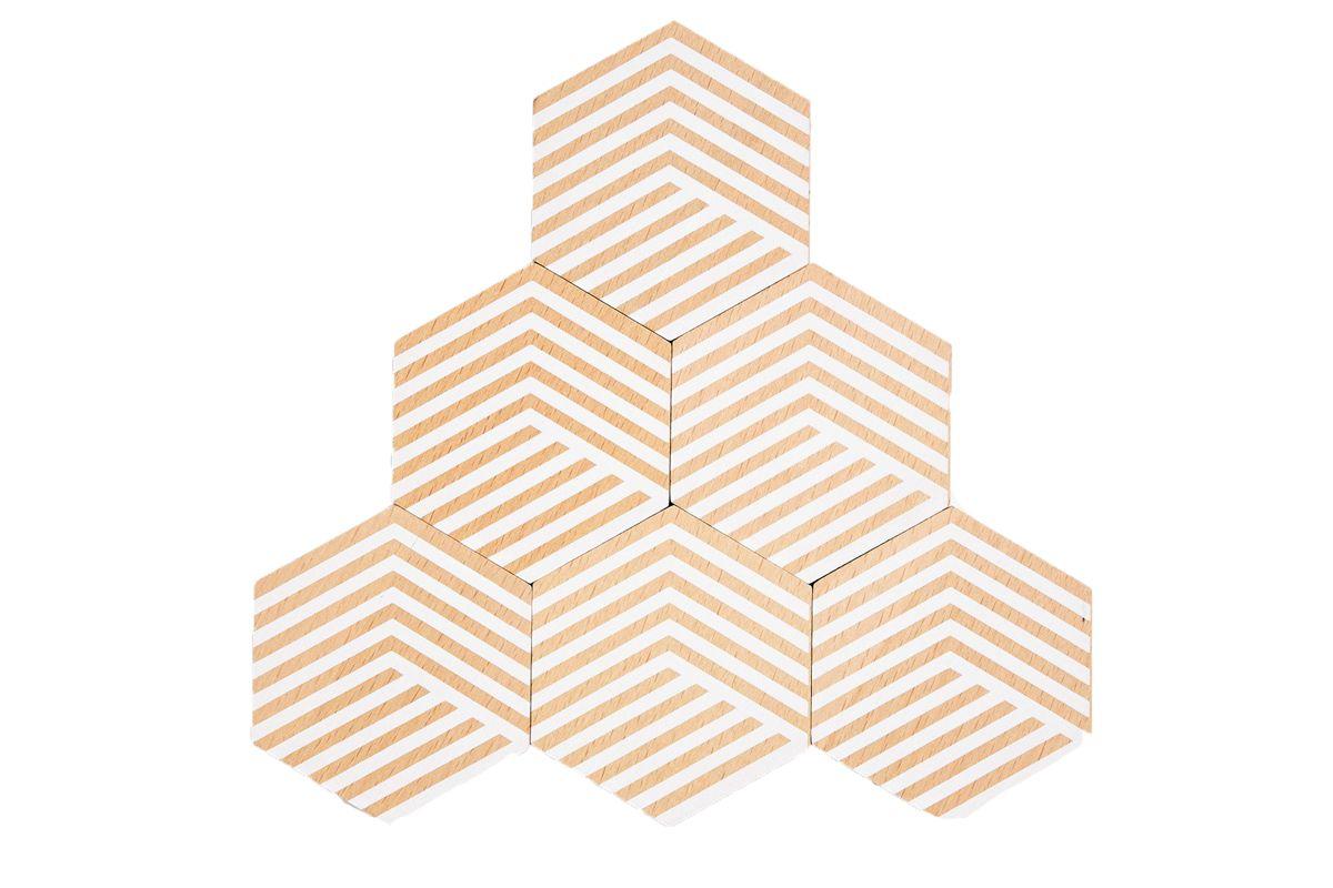 area ware table tiles optic white