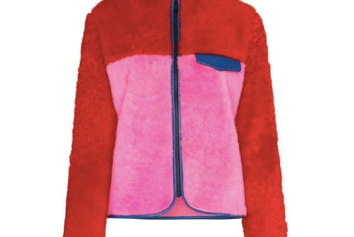 ashley williams alice fleece shearling jacket