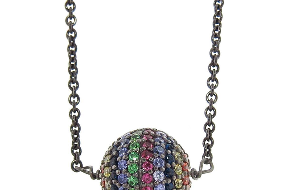 eye m by ileana makri rainbow bead necklace