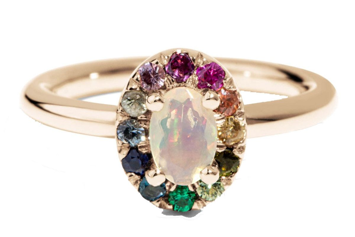 bario neal dez opal with rainbow halo ring