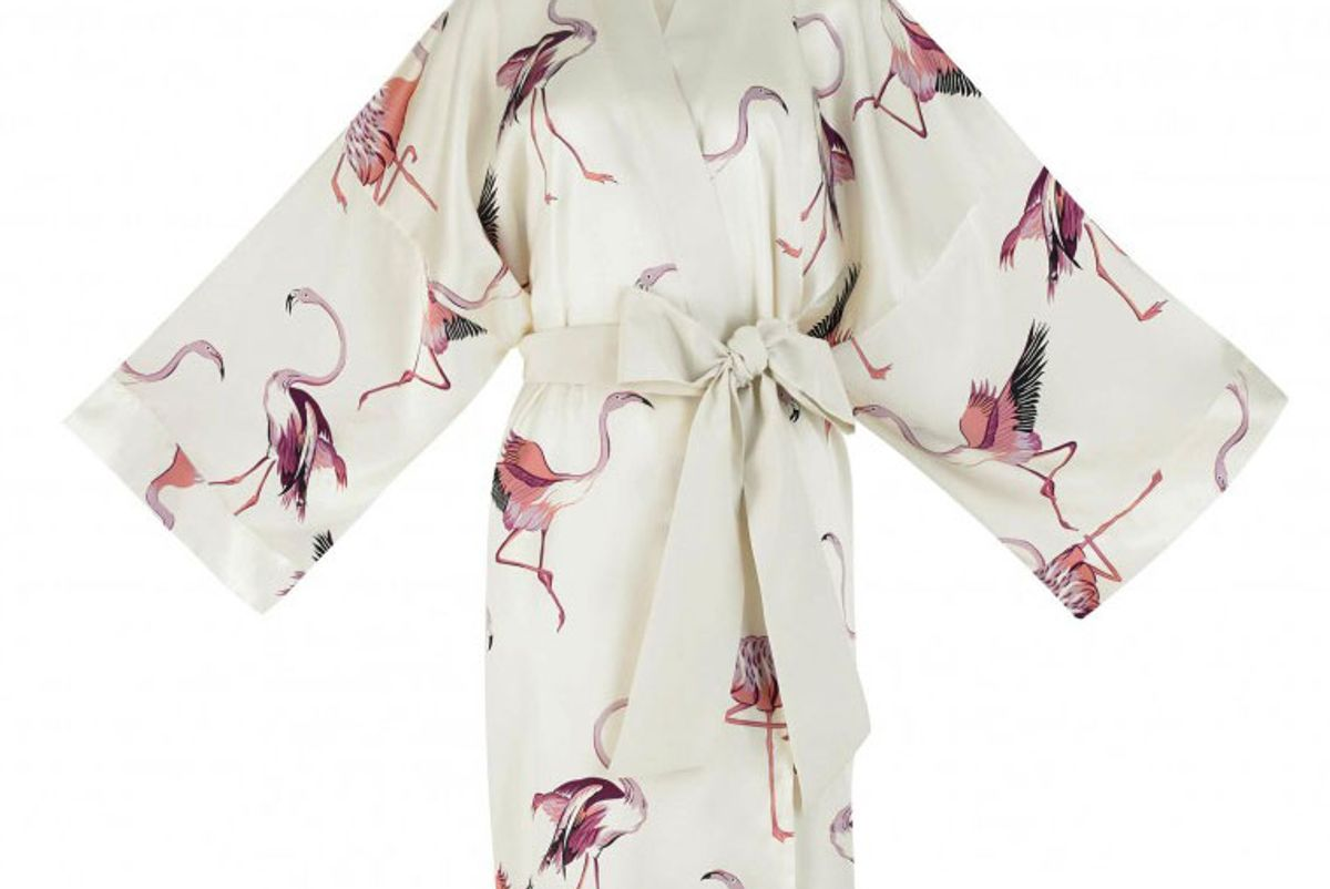 olivia von halle mimi peregrine short length silk kimono