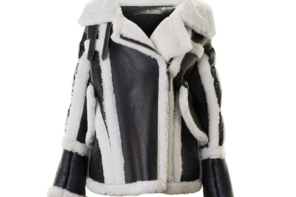 nicole benisti montaigne sherling puffer jacket