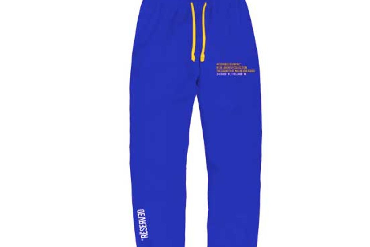 reserve dessential embroidered logo sweatpant royal