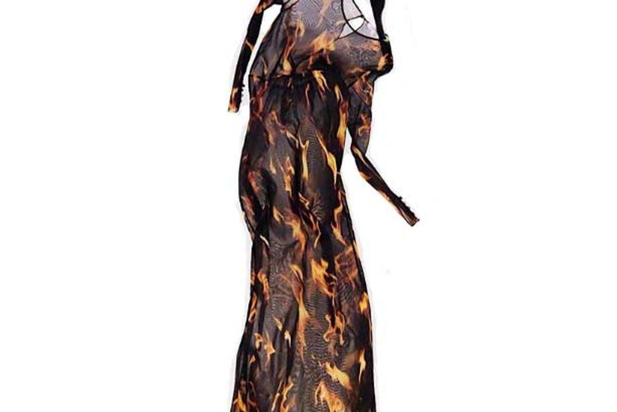 priscavera fire mesh dress