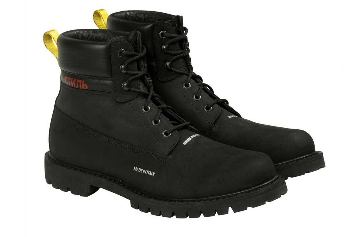 heron preston black boots