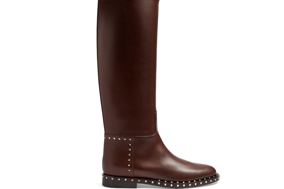 Soul Rockstud Leather Knee-high Boots