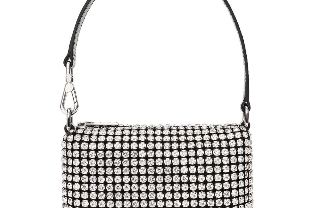 alexander wang wangloc crystal embellished mini top handle bag