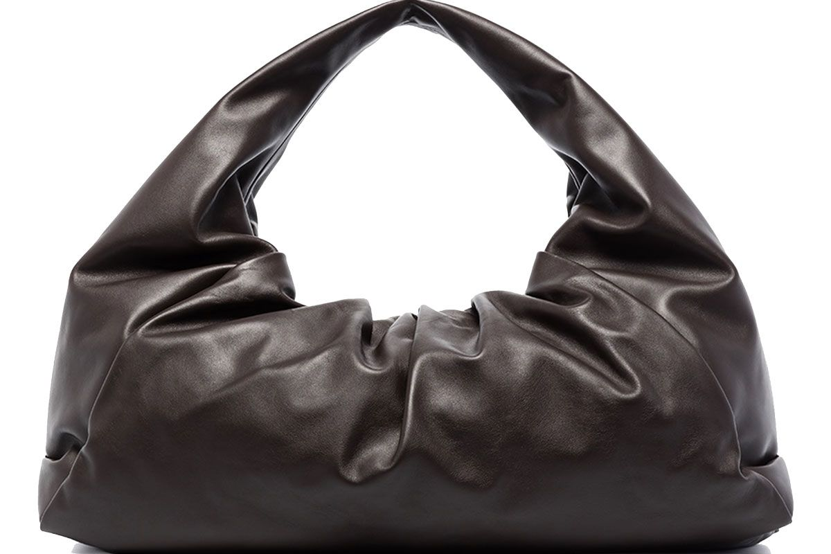 bottega veneta brown the shoulder pouch leather bag