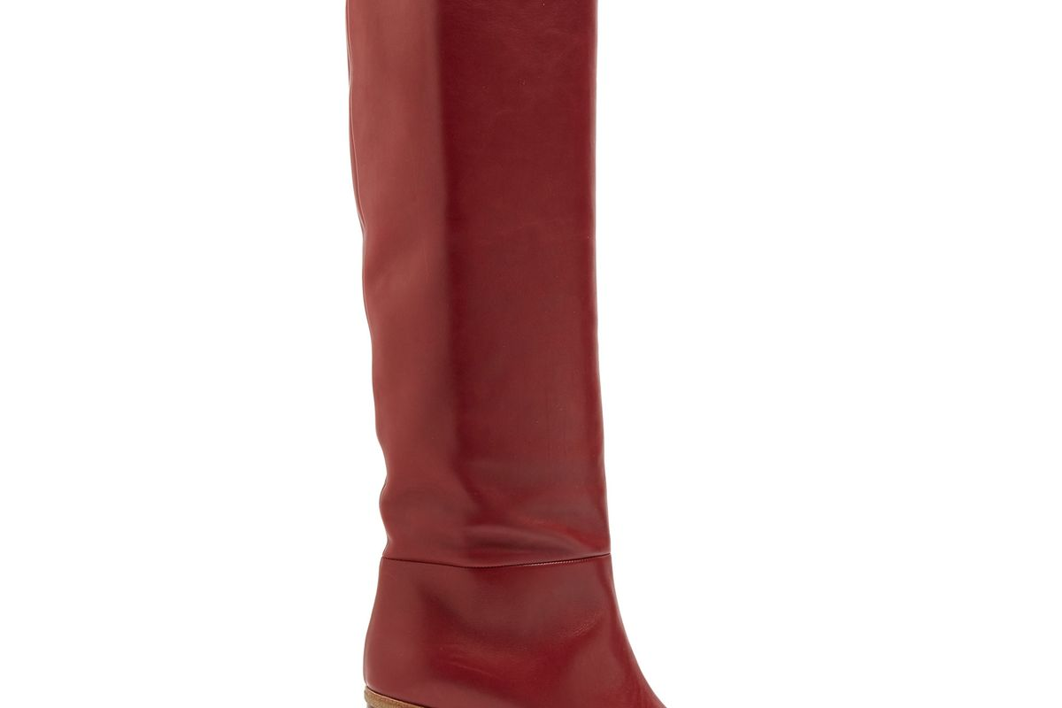 Marlene leather knee-high boots