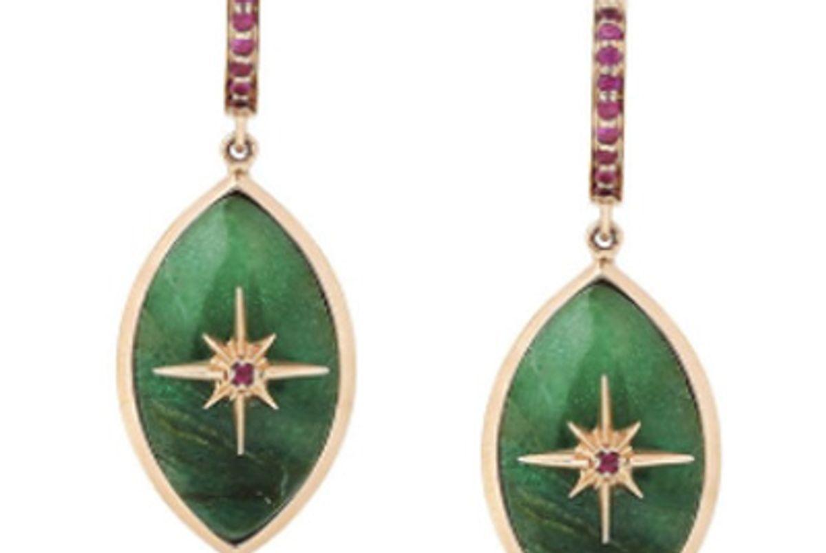 x Marlo Laz Lucky Star Eye Earrings