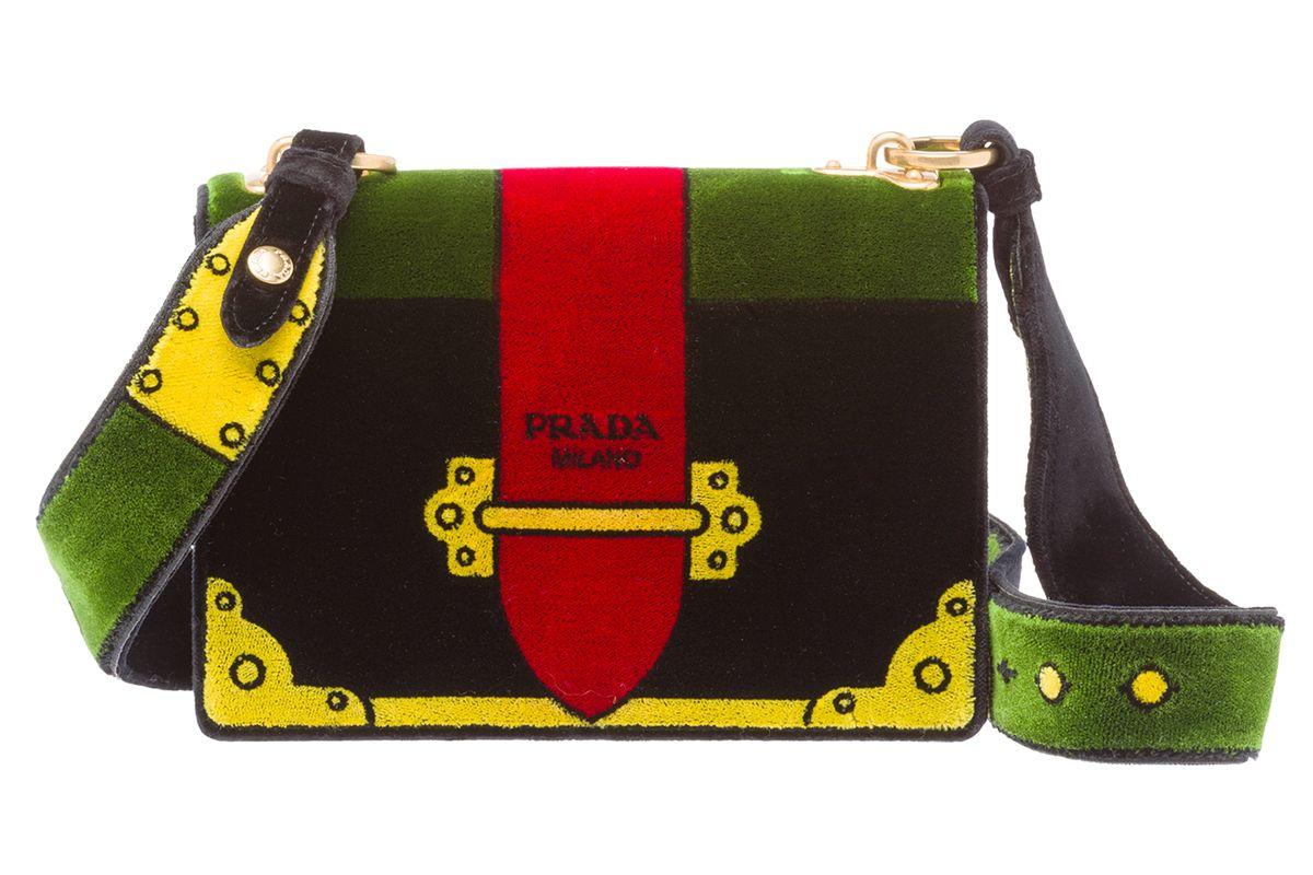 Velvet Cahier Bag in Green