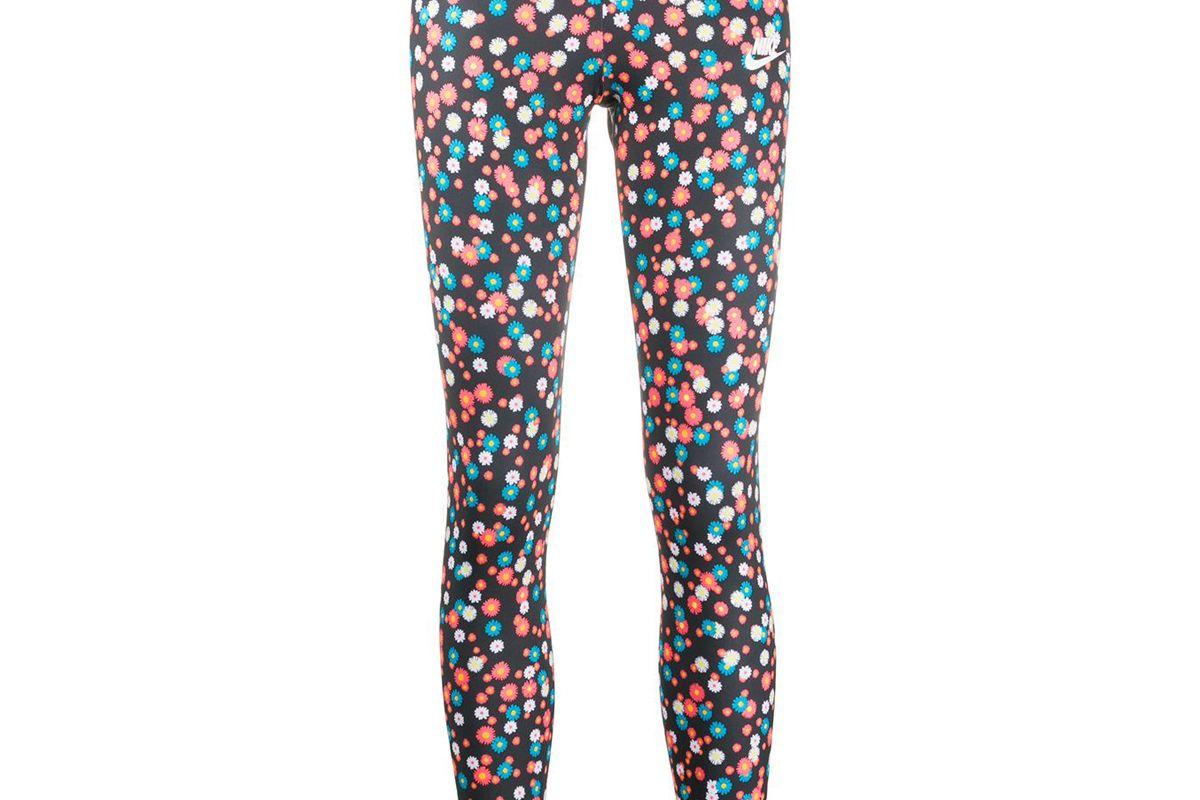nike floral print branded leggings