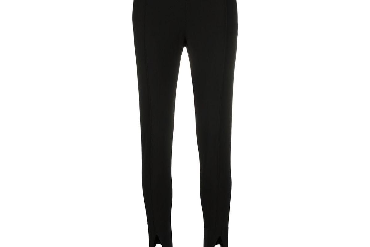 saint laurent high waist stirrup leggings