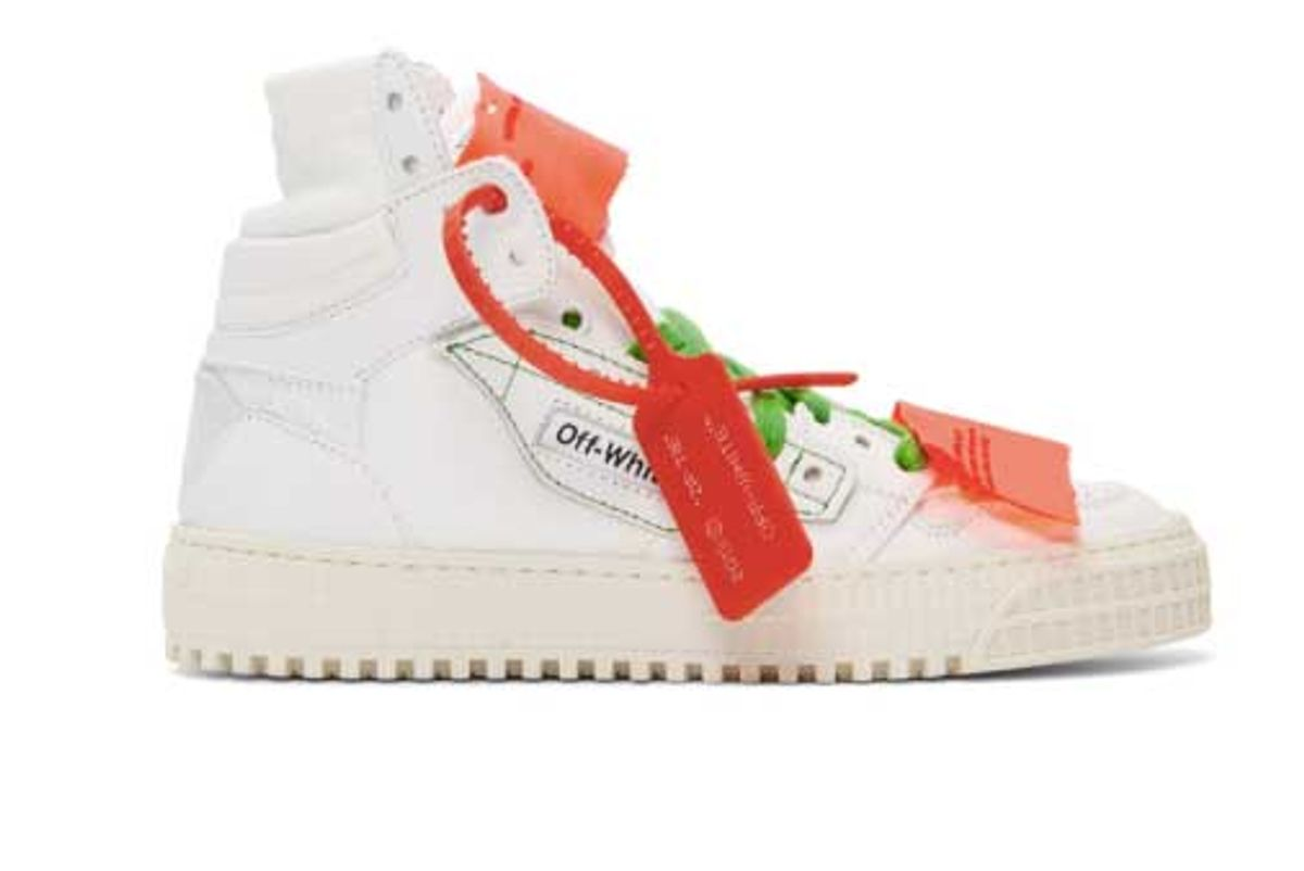 off white white low 3.0 high top sneakers
